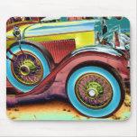 colourful vintage car mousepads