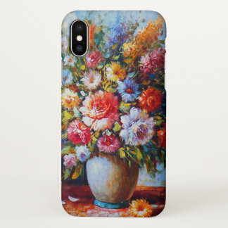 Colourful Vintage Floral Bouquet iPhone X Case