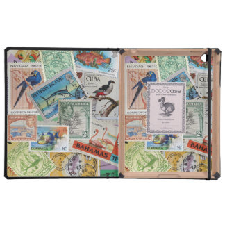 Colourful Vintage Island Stamps DoDo iPad Case