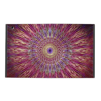 Colourful vintage kaleidoscope pattern covers for iPad
