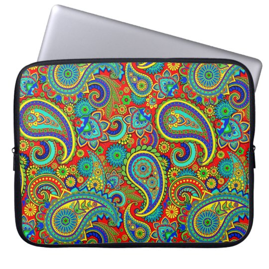 Colourful Vintage Orante Paisley Laptop Sleeve