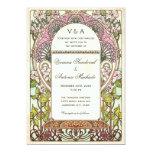 Colourful Vintage Wedding Invitations Art Nouveau