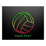 Colourful Volleyball Poster