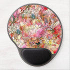 Colourful Watercolor Floral Pattern Abstract Gel Mouse Pad