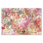 Colourful Watercolor Floral Pattern Abstract Tissue Paper