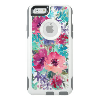 Colourful Watercolor Floral Pattern OtterBox iPhone 6/6s Case