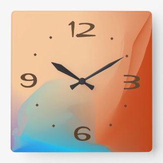 Colourful Watercolor with Tan Nos > Plain Clocks