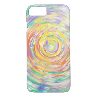 Colourful Watercolour Spiral Abstract Art Painting iPhone 8/7 Case