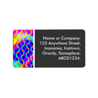 Colourful Waves Address Label