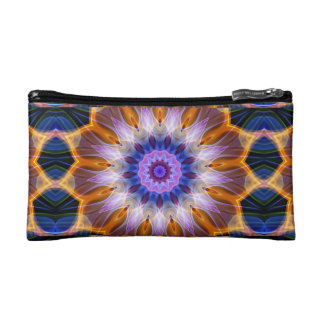 Colourful waves cosmetic bag