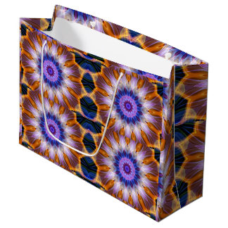 Colourful waves large gift bag