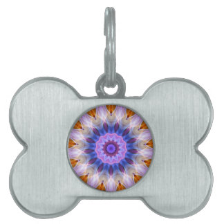 Colourful waves pet name tag
