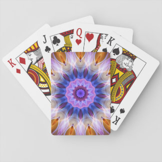 Colourful waves playing cards