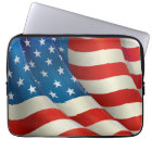 Colourful Waving U.S. Flag Laptop Sleeve