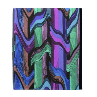 Colourful Wavy Weave Abstract iPad Folio iPad Folio Cases