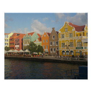 Colourful Willemstad Curacao Poster