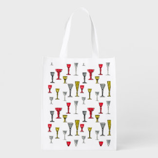 Colourful Wine Glasses Pattern