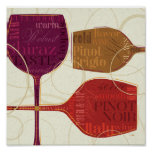 Colourful Wine Poster