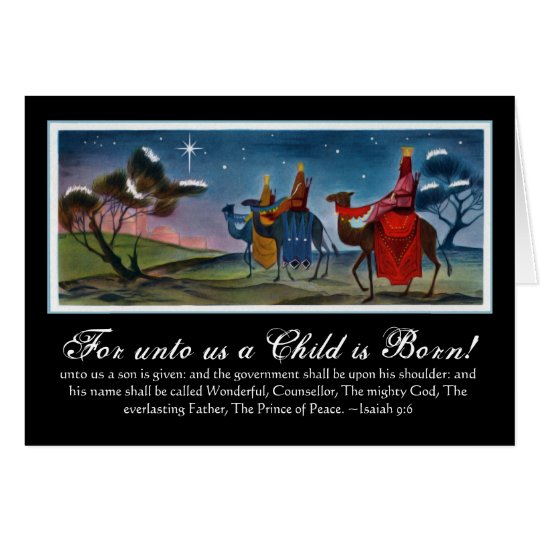 Colourful Wisemen Travelling Christmas Card