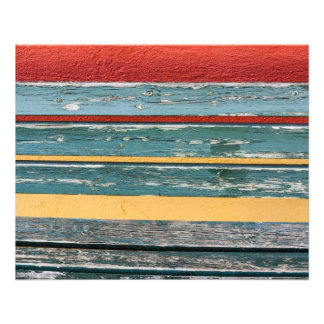 Colourful Wood and Wall Art Photo