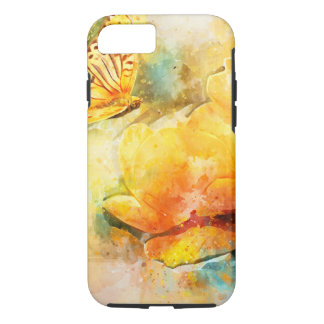 Colourful Yellow Flowers Butterfly Spring Garden iPhone 8/7 Case