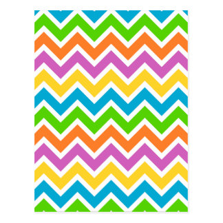 Colourful Zigzag pattern Postcard