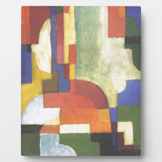 Colourfull shapes by August Macke Display Plaque