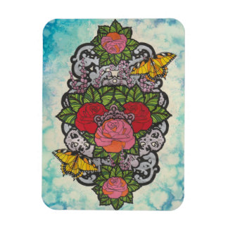 Colouring Page - Roses Magnet