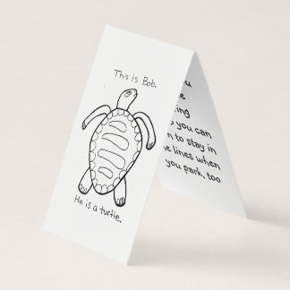 Colouring Turtle Parking Prank Card