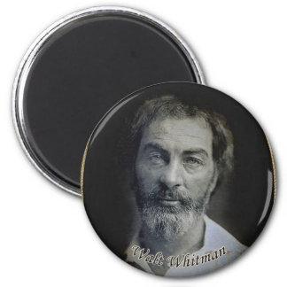 Colourized Walt Whitman Portrait 6 Cm Round Magnet