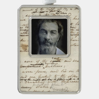Colourized Walt Whitman Portrait Silver Plated Framed Ornament
