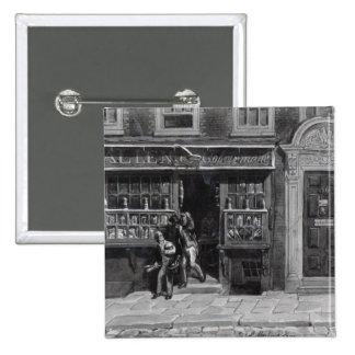 Colourman's Shop, St. Martin's Lane, London, 1829 15 Cm Square Badge