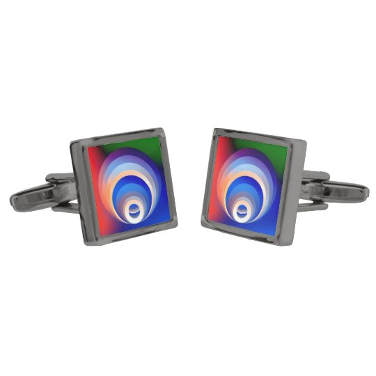 Colours and Emotions 2 Gunmetal Finish Cuff Links
