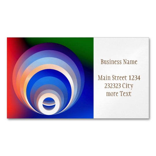 Colours and Emotions 2 Magnetic Business Card