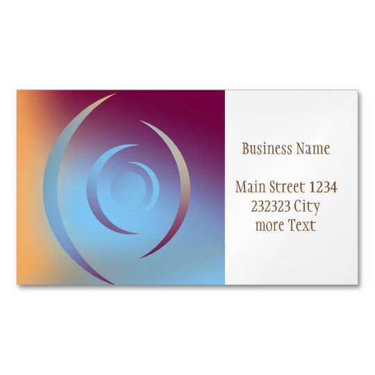 Colours and Emotions 3 Magnetic Business Card