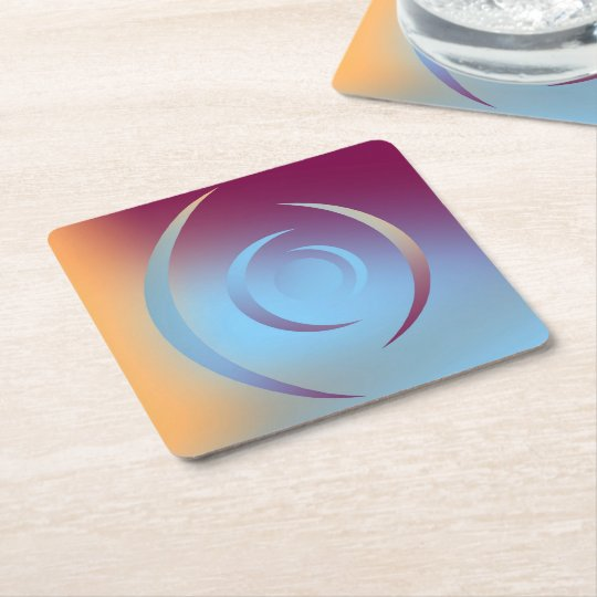 Colours and Emotions 3 Square Paper Coaster