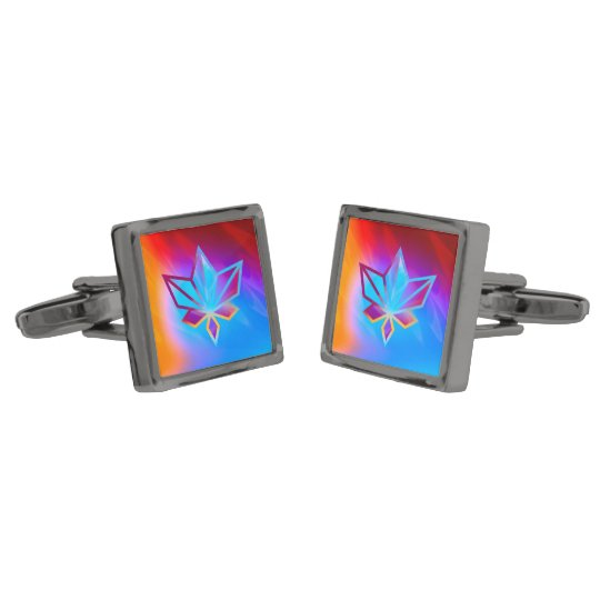 Colours and Emotions 4 Gunmetal Finish Cufflinks