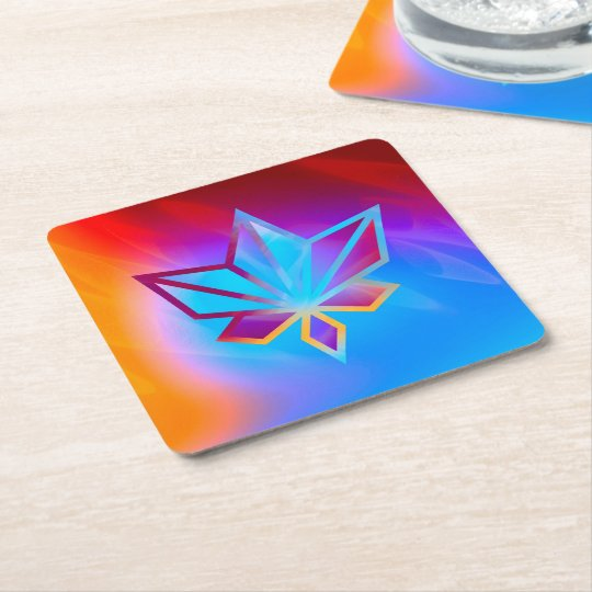 Colours and Emotions 4 Square Paper Coaster