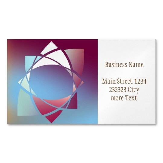 Colours and Emotions 5 Magnetic Business Card