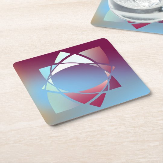 Colours and Emotions 5 Square Paper Coaster