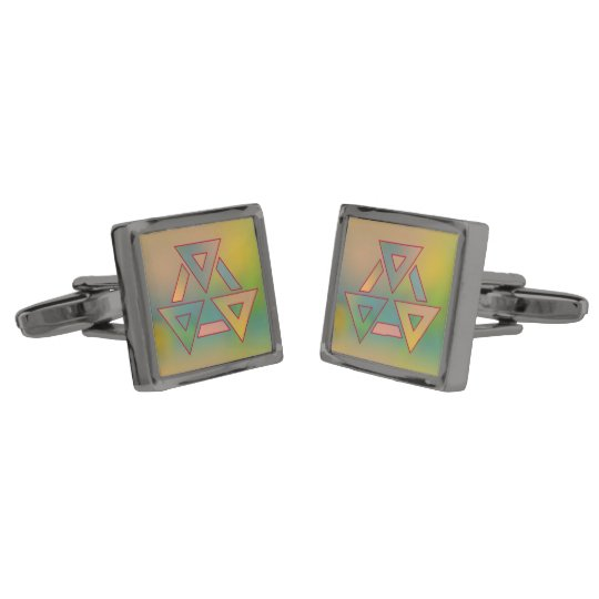 Colours and Emotions 6 Gunmetal Finish Cuff Links