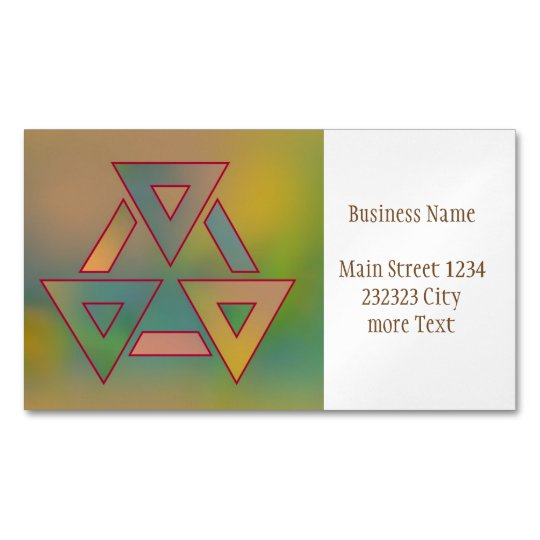 Colours and Emotions 6 Magnetic Business Card
