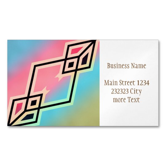 Colours and Emotions 7 Magnetic Business Card