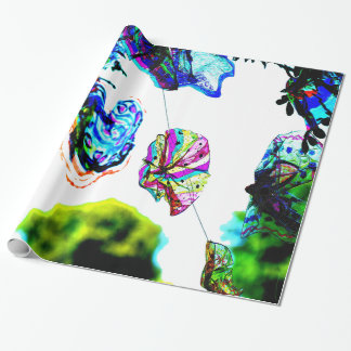 Colours in the wind wrapping paper