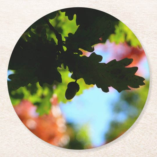 Colours of Autumn 02.7 Round Paper Coaster