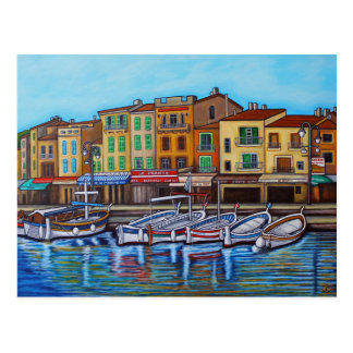 Colours of Cassis Postcard by Lisa Lorenz
