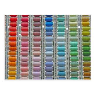 Colours of cotton postcard