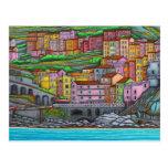 Colours of Manarola Post Card