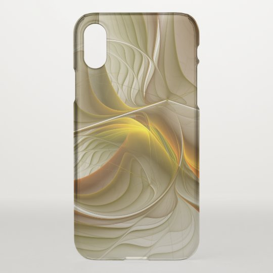 Colours of Precious Metals, Abstract Fractal Art iPhone X Case