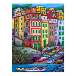 Colours of Riomaggiore, Cinque Terre Post Card